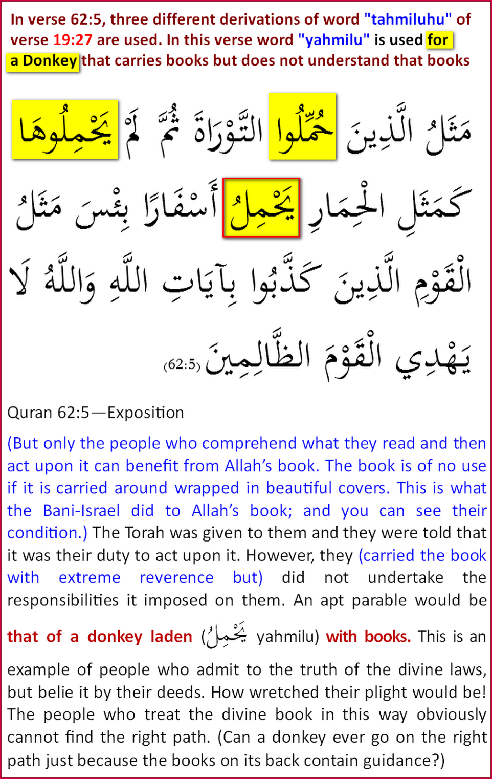 Quran62_5DonkeyLoadedwithBook