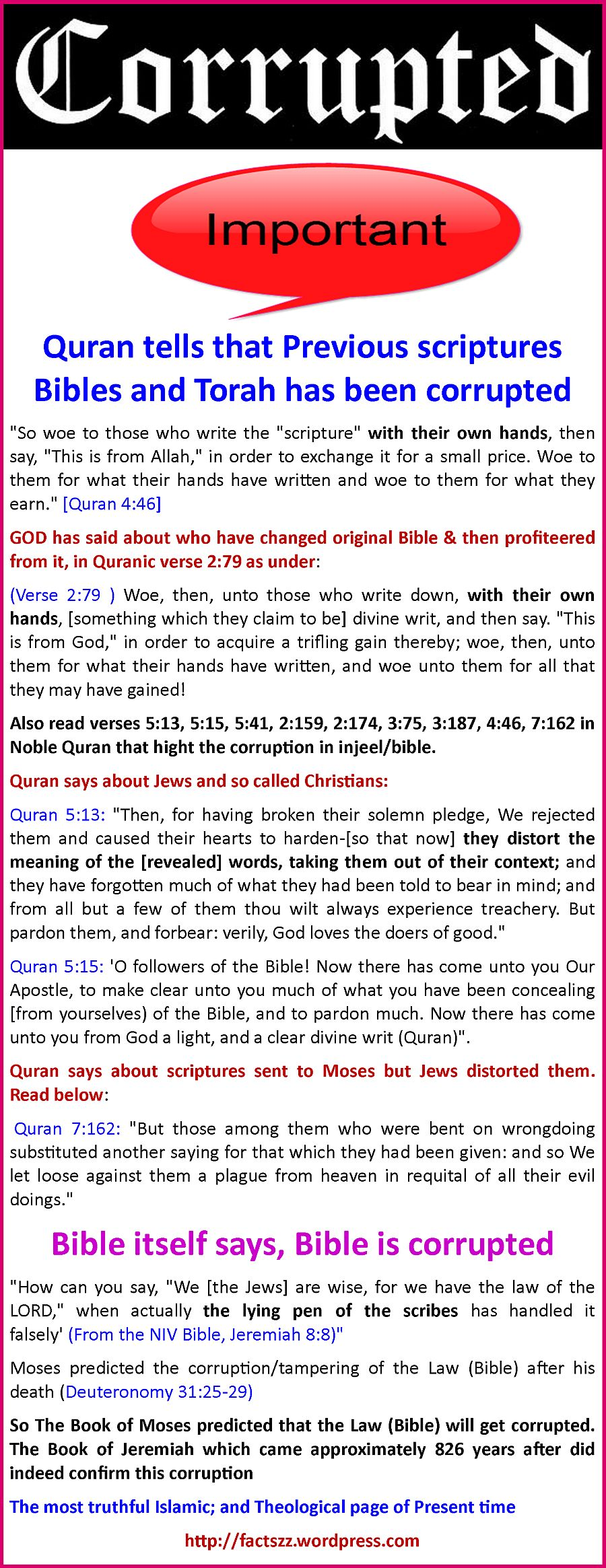 BibleCorruptionAnd QuranF