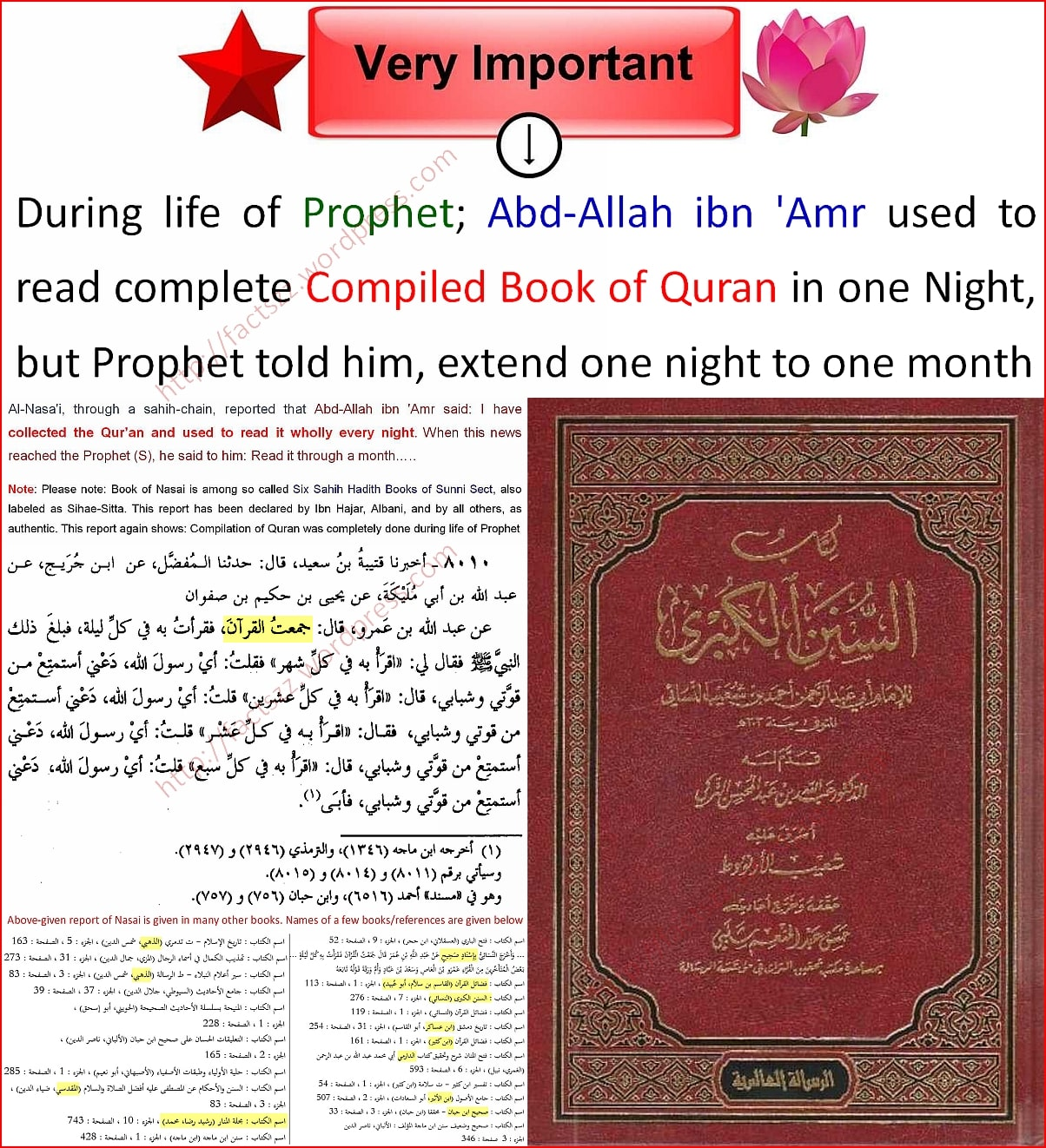 Complete Quran was compiled in Book form by Prophet Mohammad