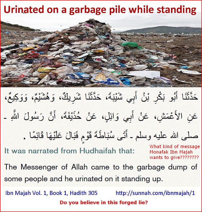 Urinatedongarbage