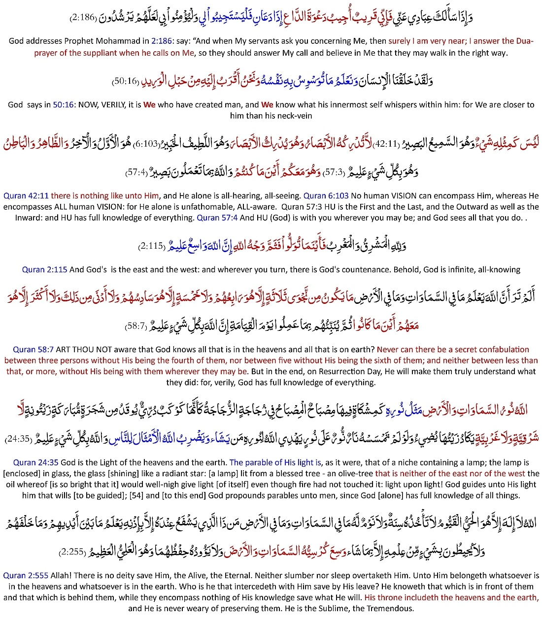 Allah says: His Quran is complete, fully detailed, and it