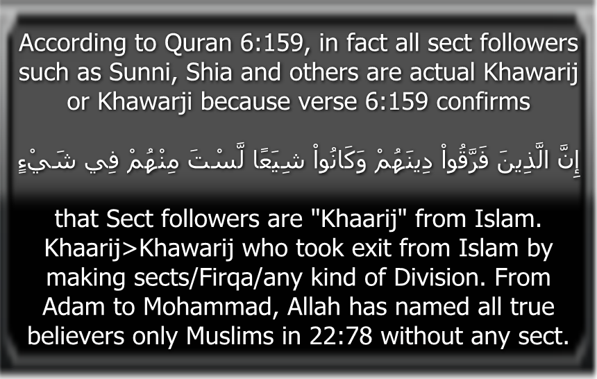 Quran6_159Khawaarij